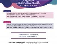 Latvijas bibliotēkās notiks pasākumu cikls par Eiropas nākotni un digitālajiem izaicinājumiem
