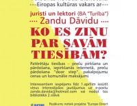 Eiropas kultūras vakars ar juristi un lektori Zandu Dāvidu