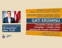 """Aicinām uz lekciju """"Latvijas valsts veidošanās Eiropas kontekstā"""""""