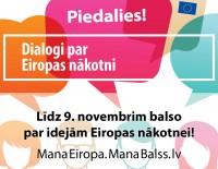 Balsot par idejām Eiropas nākotnei