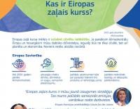 Eiropas Komisija iepazīstina ar Eiropas zaļo kursu