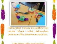 Aicinām bērnus uz radošo darbnīcu