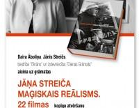 """Dairas Āboliņas grāmatas """"Jāņa Streiča maģiskais reālisms. 22 filmas"""" atvēršanas svētki"""