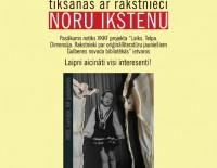 Aicinām uz tikšanos ar rakstnieci Noru Ikstenu