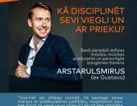Aicinām uz Arstarulsmirus lekciju par sevis pašdisciplinēšanu