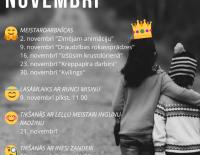 Bērnu bibliotēkas pasākumi novembrī