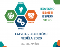 Bibliotēku nedēļa 2020 - Iedvesmo, iesaisti, iespējo, vieno!