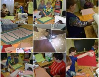 Tekstilmozaīkas apmācības Daukstu pagasta bibliotēkā