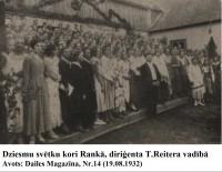 Dziesmu svētki Rankā pirms 85 gadiem